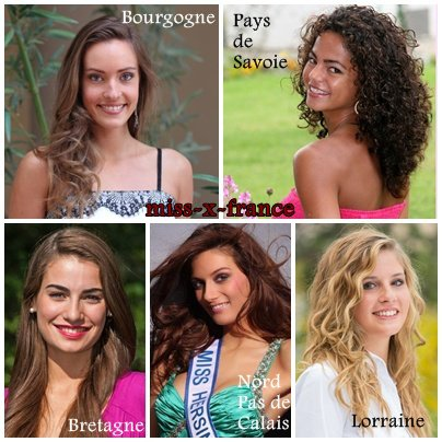 Les candidates à l'élection de Miss France 2014