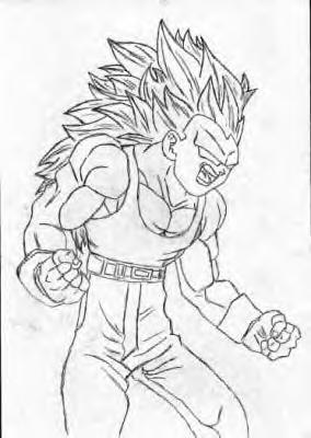 Végéta Super Sayan 3 Dragon Ball Z Gt