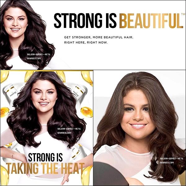 Selena est désormais l'égérie de Pantène (marque de shampoing). Selena est jolie sur les photos mais c'est vraiment dommage qu'elles soient si retouchées :/