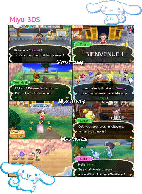 Ma première partie Animal Crossing ♥