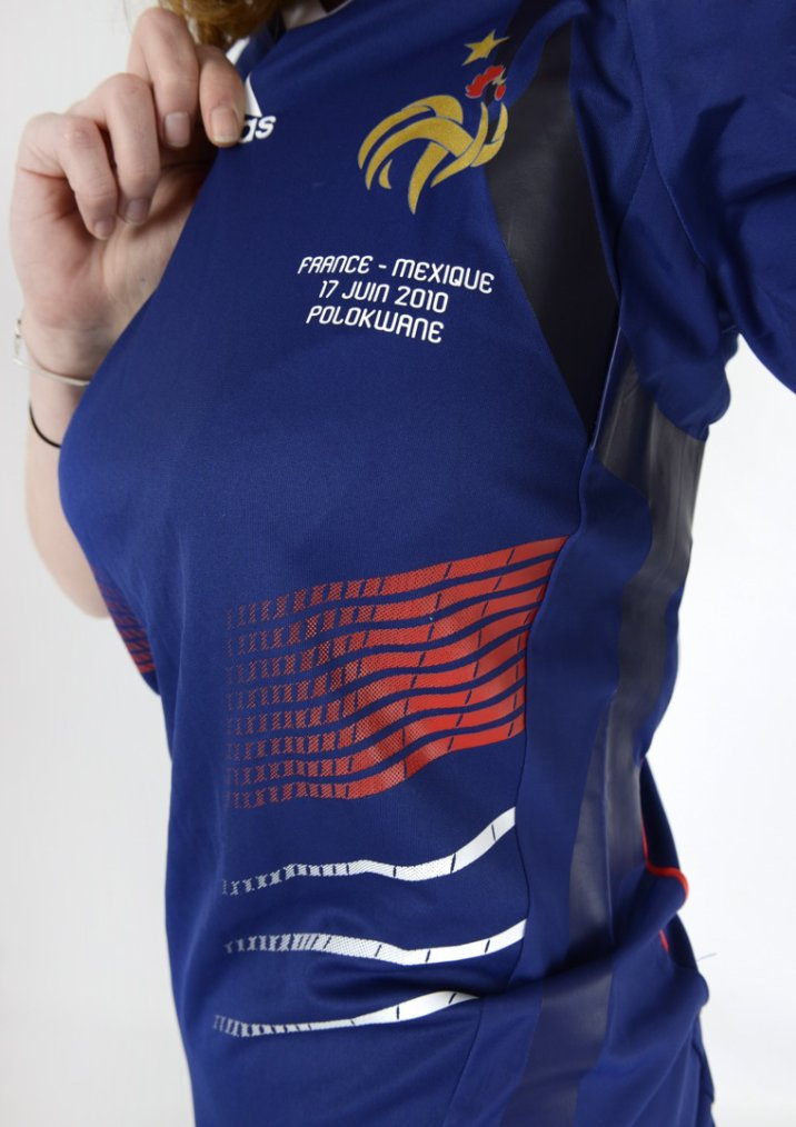 Maillot porte F.Malouda France - Mexique Coupe du Monde 2010