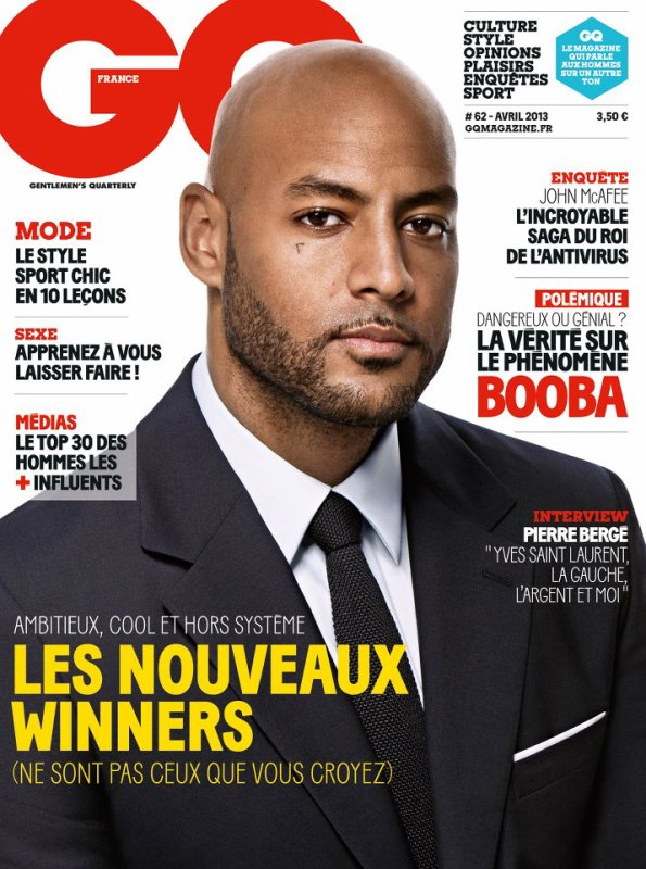 BOOBA EN COUVERTURE DU NUMERO D'AVRIL DE GQ France ! EN KIOSQUE LE 20 MARS !