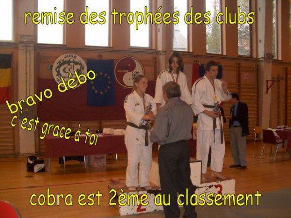 petite photos souvenir  du tournoi Europeen  de Judo en 2006 de Déborah