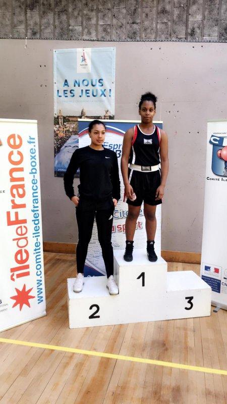 Chloé et Carina championnes Ile de France BEA