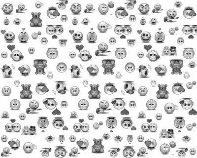 Blanc noir hello in smiley 39 s world - Smiley en noir et blanc ...