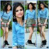 Selena Gomez During A Break While Filming A Kmart Commercial