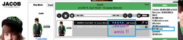 + de 50 000 amis sur le blog a Jacob !