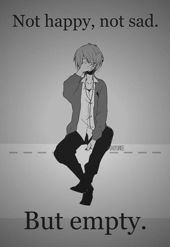 """ Ni heureux, ni triste. Juste vide.""'"