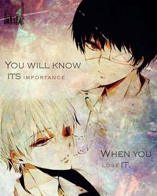 """""""Tu te rendra compte à quel point elle est importante, quand tu l'auras perdu ."""""""