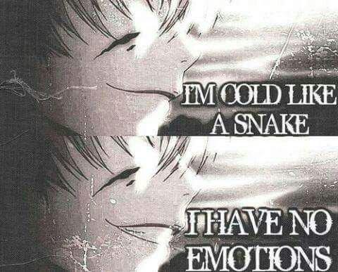 """""""J'ai froid comme un serpent je n'ai pas d'émotions"""""""