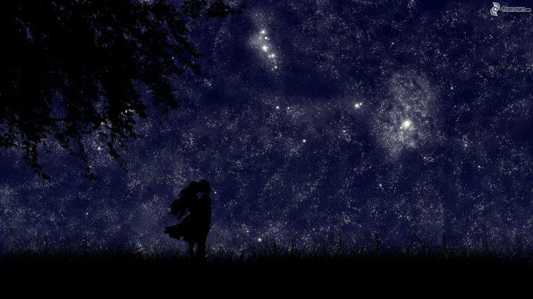 """""""Parce que les gestes valent bien plus que les mots ,  toi et moi allons en finir maintenant, ensembles avec comme témoin le ciel étoilé."""""""