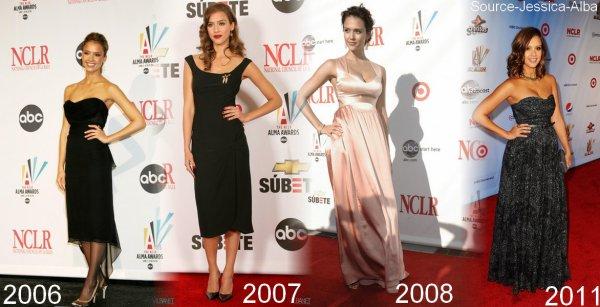 Samedi 10 Septembre  2011 : Jessica s'est rendue au ALMA Awards 2011 à Santa Monica