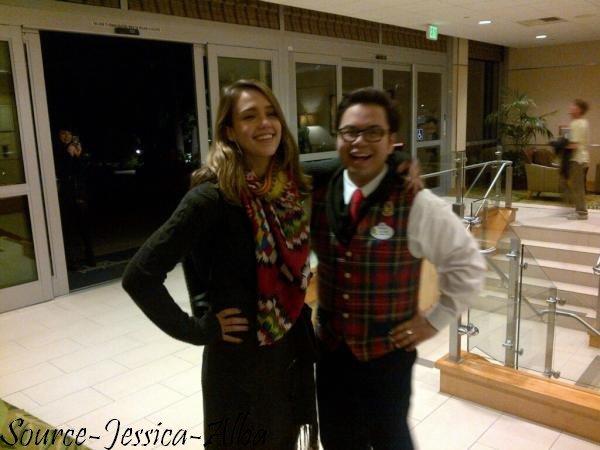 Lundi 28 Novembre  2011 : Jessica se rendant à un Studio d'enregistrement .