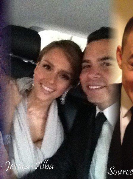 Dimanche 15 Janvier 2012 : Jessica & Cash à la cérémonie des Golden Globes 2012