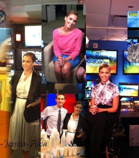 """Mercredi 18 Janvier 2012 : Jessica allant à l'émission """" Fox & Friends """" dans New York . Elle a ensuite été au Spa ."""