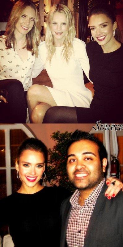 "Jeudi 12 Avril 2012 : Jessica se rendant au  "" Conde Nast Traveler Hot List Party"""