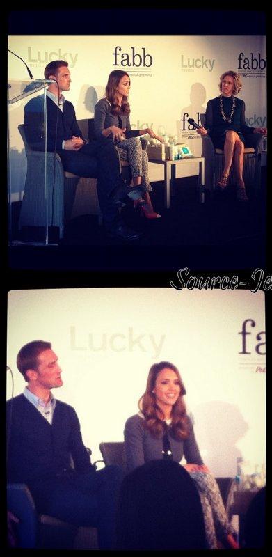 Lundi 30 Avril 2012 : Jessica s'est rendue à la congérence organisé par The Lucky Magazine dans Santa Monica
