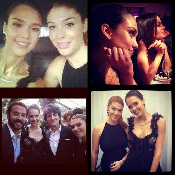 Mardi 29 Mai  2012 : Jessica & Lauren sortant du restaurant Sketch à Londres . Le soir , Jessica s'est rendue au Glamour Awards 2012