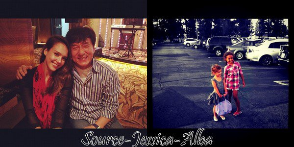 Vendredi 1 er Juin  2012 : Jessica se rendant à la conférence de presse pour l'ouverture du Magasin Mont Blanc à Pékin  . Ensuite elle a été à l'ouverture du magasin