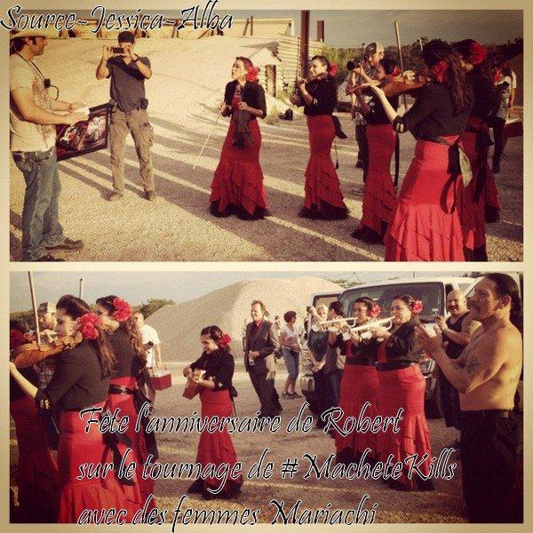 Jeudi 20 Juin  2012 : Jessica sur le tournage de Machete Kills au Texas