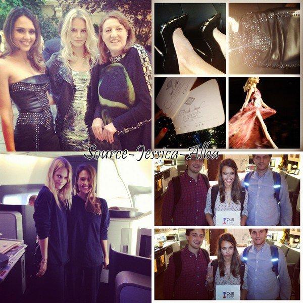 Dimanche 1 er Juillet 2012 : Jessica au défilé de la marque Versace à Paris .