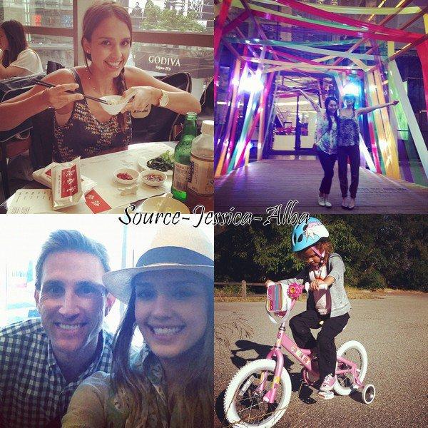 Samedi 21 Juillet 2012 : Jessica , Cash , Honor & Haven allant prendre leur petit-déjeuner .Un peu plus tard , ils ont été dinner dans Beverly Hills . Vendredi 20 Juillet 2012 : Jessica arrivant à LAX aéroport.