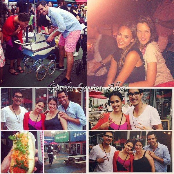 Samedi 28 Juillet 2012 : Jessica , Cash , Honor & Haven sortant de leur Hotel dans Soho à NY.