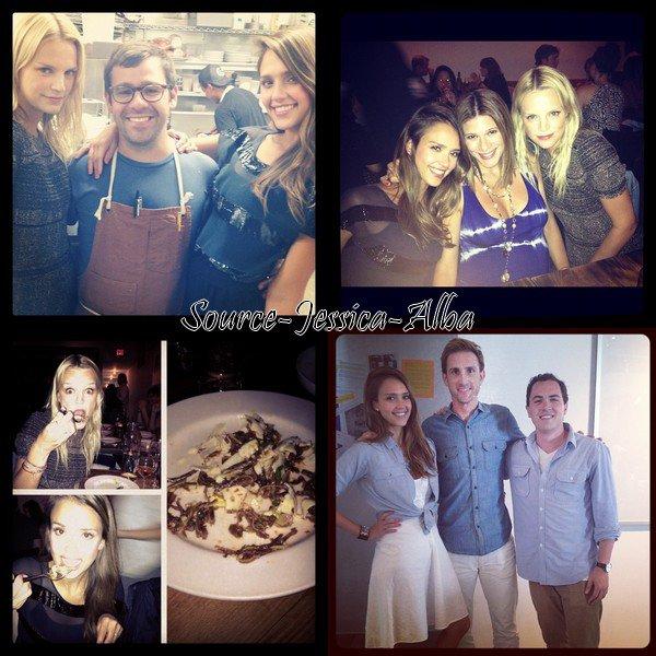Vendredi 17 Août 2012 : Jessica allant déjeuner avec un ami au restaurant Ivy