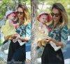 Lundi 17 Septembre 2012 : Jessica emmenant ses filles Honor & Haven au parc de Pacific Palisades
