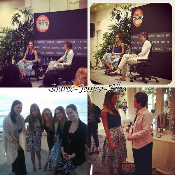"Lundi 1er Octobre 2012 : Jessica s'est rendue au "" Fortune Most Powerful Women 2012 "" à l'hotel Ritz Carlton dans Laguna Niguel"
