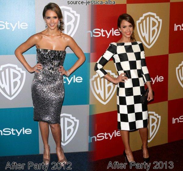 Dimanche 13 Janvier 2013 : Jessica se rendant au Golden Globes 2013