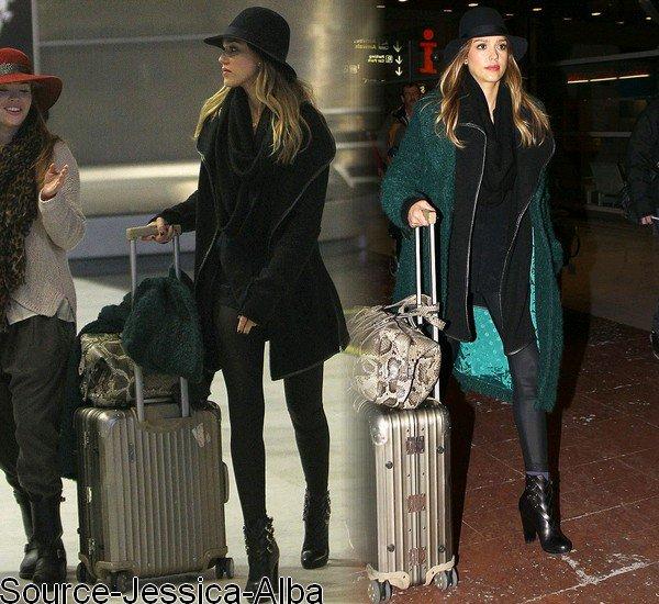 Dimanche 20 Janvier 2013 : Jessica à la fashion week de paris pour assister au défilé de Dior
