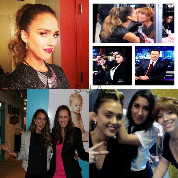 Mardi 12 Février 2013 : Jessica au Jimmy Kimmel Live