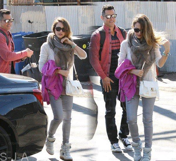 Dimanche 17 Février 2013 : Jessica & Cash emmenant Honor & Haven à la plage de Santa Monica