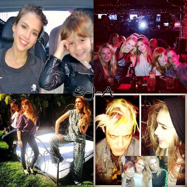Samedi 9 Mars 2013 : Jessica , Cash , Honor & Haven se promenant dans Beverly Hills
