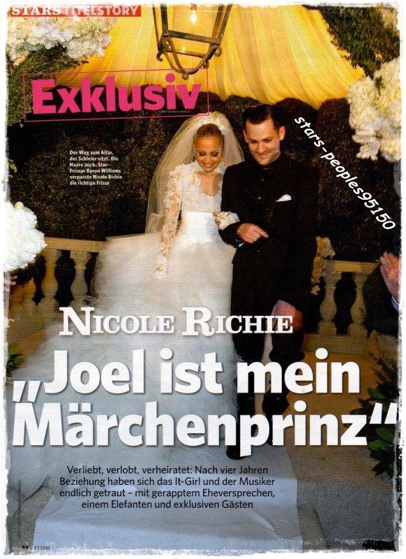 NICOLE RICHIE MARIER A JOEL MADDEN PHOTO