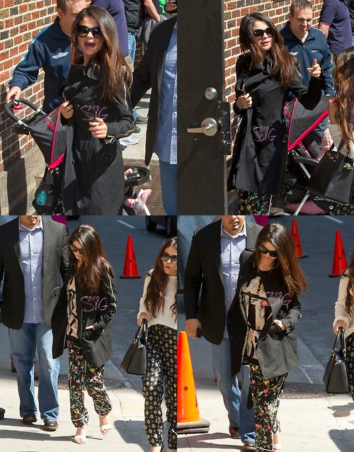 Selena arrivant à The Late Show With David Letterman !