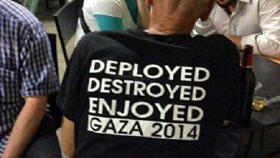 Un t-shirt glorifiant la destruction de gaza porté par des sionistes radicaux
