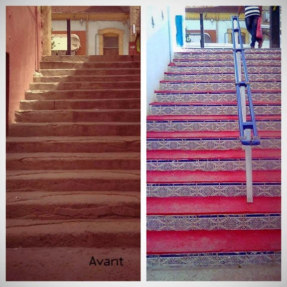 La revolution des escaliers en algerie