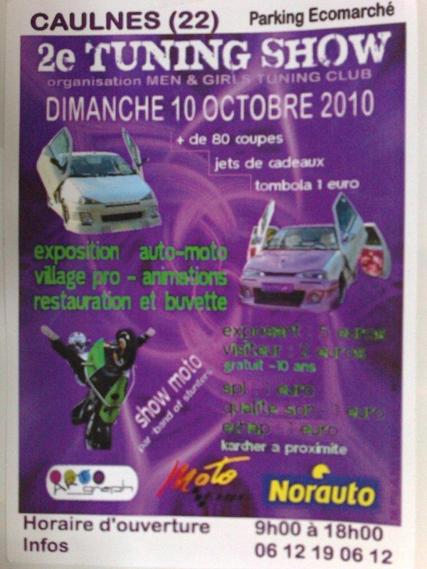 nous organison notre 2éme meeting a caulnes le 10 octobre 2010