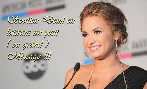 Laissez un messages de soutien pour Demi !