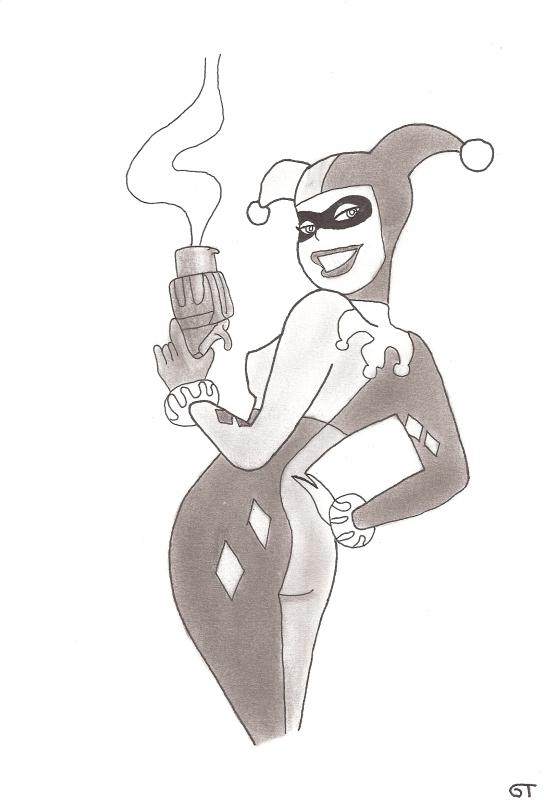 Harley Quinn Batman Mes Dessins