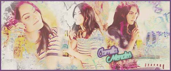 ● ● Bienvenue sur MendesCami ta meilleure source sur la sublime Camila Mendes ! Tout le quotidien de la jolie Camila sous forme de photoshoots, candids, events, interviews, et bien d'autres encore!