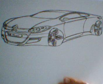 My First Ones Life drawing: C5 Coupe