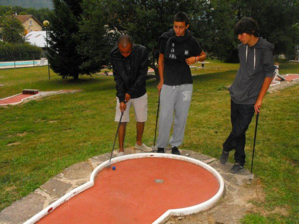 en mode mini-golf ♥