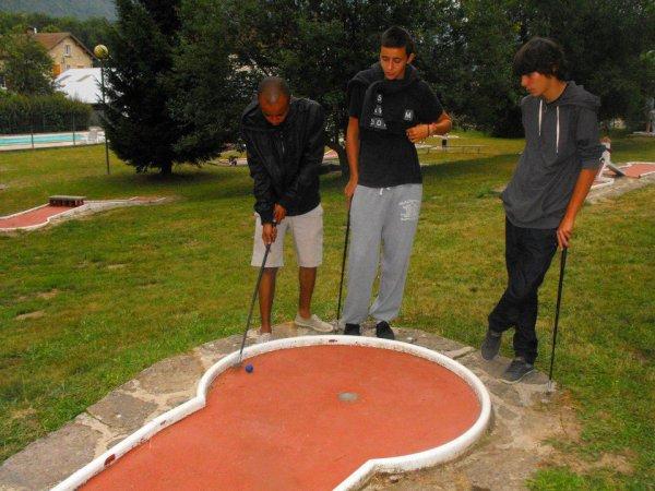 en mode mini-golf ♥