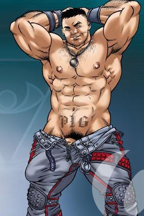 Porky, dessiné par Logan, vous souhaite une super journée, les mecs ! ;)