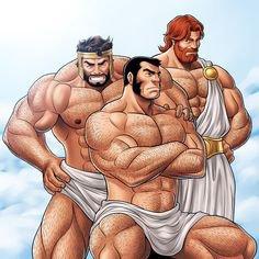 Une bonne semaine à vous avec ce trio antique tout en muscles ! <3