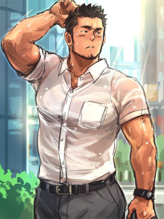 Quand il pleut dehors, les chemises blanches ne font pas long feu... <3