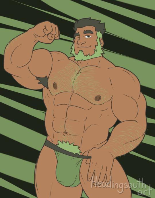 Si la couleur verte devait être illustré de façon très... Masculine. <3